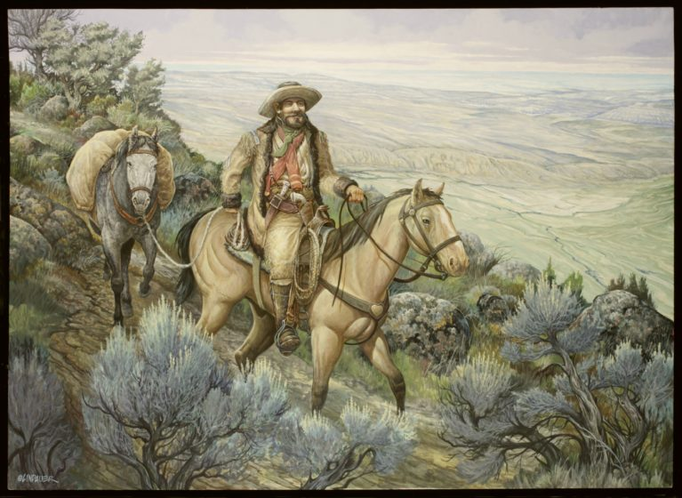 Buffalo Bill Cody Painting